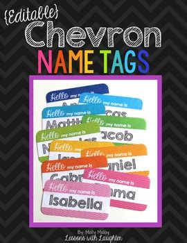 I have tried having student nametags on desks for several years now, and they always get destroyed a few months (or weeks!) into the school year! I created these nametags for my students chairs to see if they would hold up better than on desks and they did!These name tags are editable so you can add your students' names!