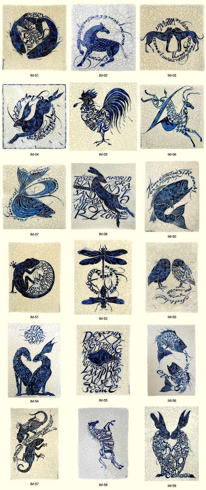 Poetry Tiles - Cards by Iris Milward