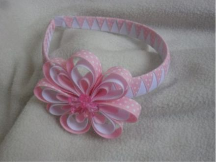 17 best images about diademas on pinterest headband tutorial macrame and diy videos - Como hacer diademas ...