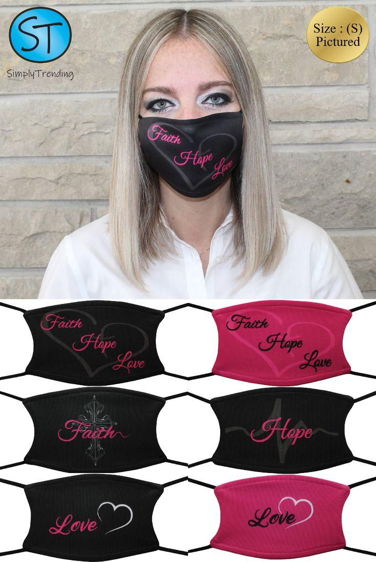 Faith Hope Love Face Mask In 2021 Faith Hope Love Mask Faith