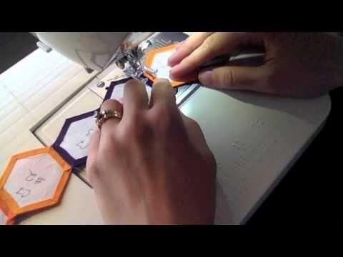 Machine English Paper Piecing - Skill Builder Block Lesson #4 - YouTube hexagons