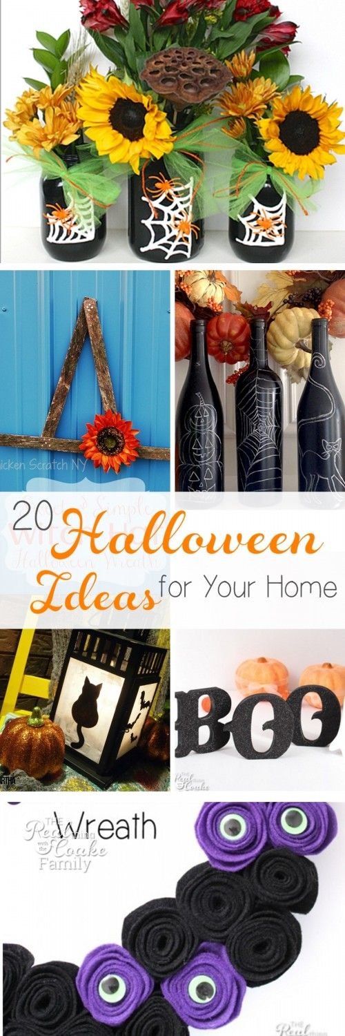 20 fun halloween crafts and ideas for your home - Halloween Crafts At Home