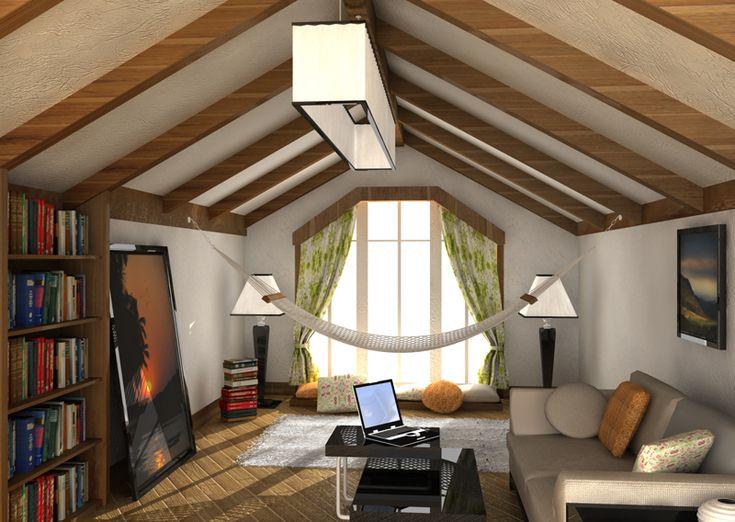 куличи бумажной потолок на косой крыше фото классическом
