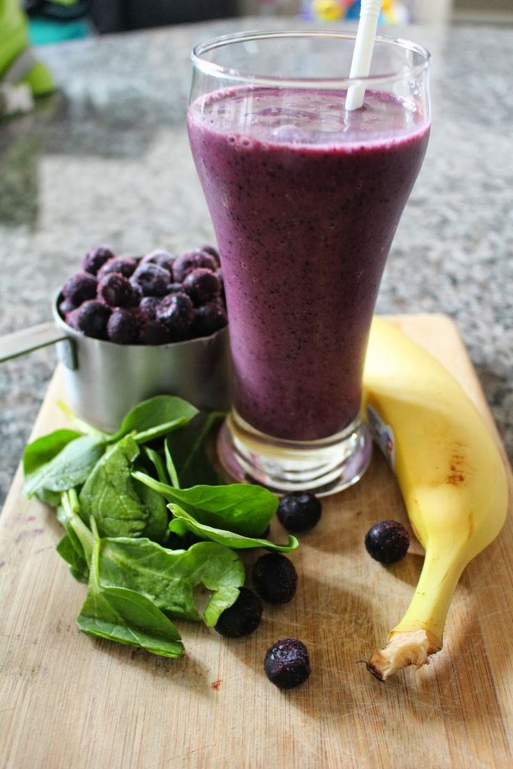 Clean Eating Blueberry Spinach Smoothie