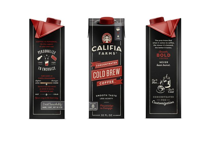 Califia Farms Concentrated Cold Brew Coffee — The Dieline - Branding & Packaging
