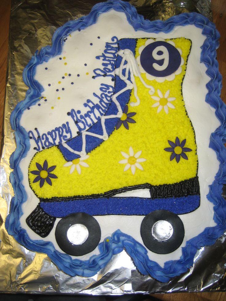 Roller Skate Cupcake Cake