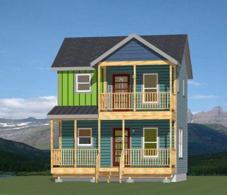 20x16 house 1bedroom 15bath 544 sq ft pdf floor etsy