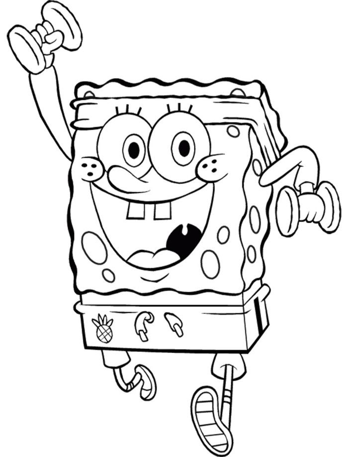 spongebob heavy lifting coloring page