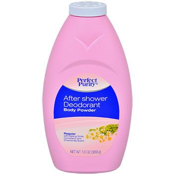 Perfect Purity After Shower Deodorant Body Powder, 13 oz.