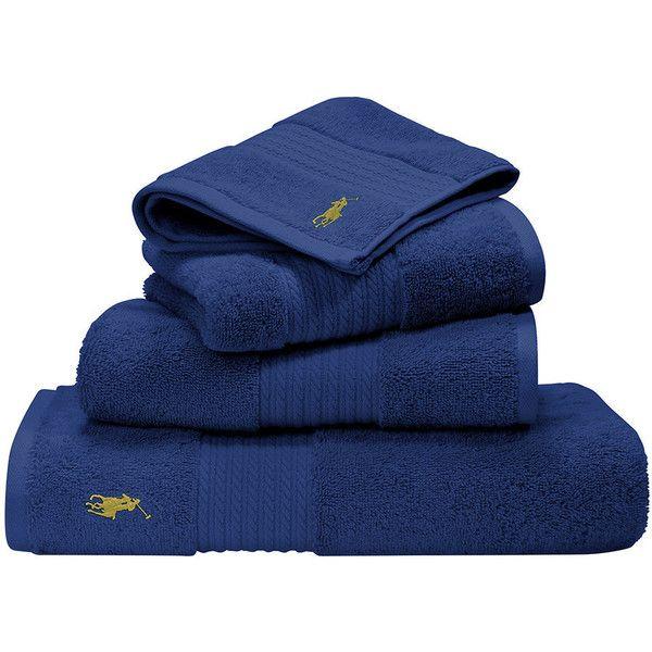 Ralph Lauren Home Polo Player Towel Cobalt Guest Towel 12