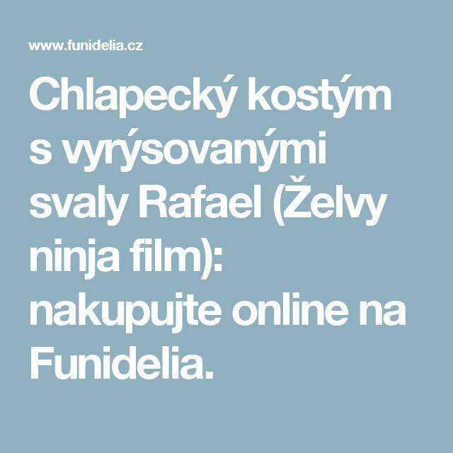 Chlapecký kostým s vyrýsovanými svaly Rafael (Želvy ninja film): nakupujte online na Funidelia.