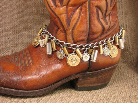 Loaded Shotgun and Bullet Casing Mixed Metal Boot Bracelet exclusively from SureShot Jewelry.  It's where you'll find the original bullet and shotgun casing boot bracelets.  Copyrighted and protected.  6 styles.  Go to www.sureshotjewelry.com to see them all!