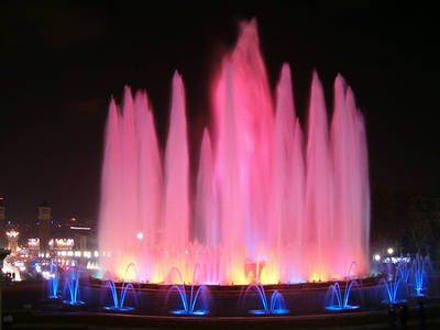 Magic Fountain in Barcelona's Placa Espanya