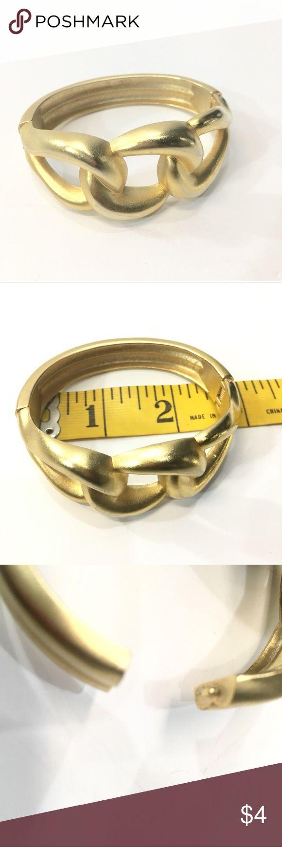 Gold Bracelet Gold Bracelet; Side Opening/Spring Hinge Jewelry Bracelets