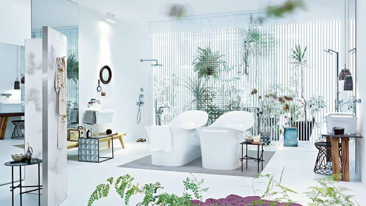 Badinspiration 4  Verschmelzung von Bade- und Schlafzimmer  Hansgrohe