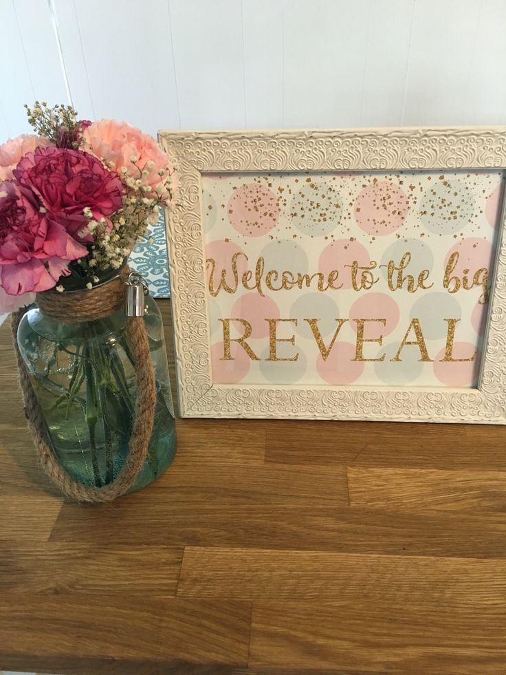 Gender Reveal Party  Welcome Sign!