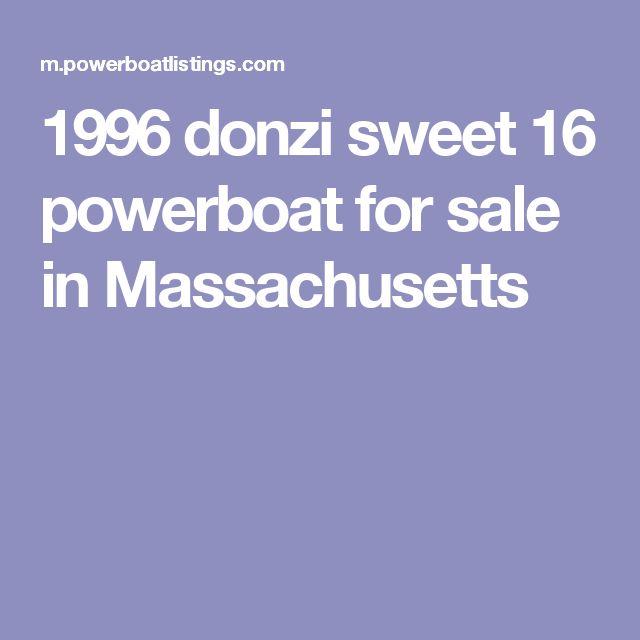 1996 donzi sweet 16 powerboat for sale in Massachusetts
