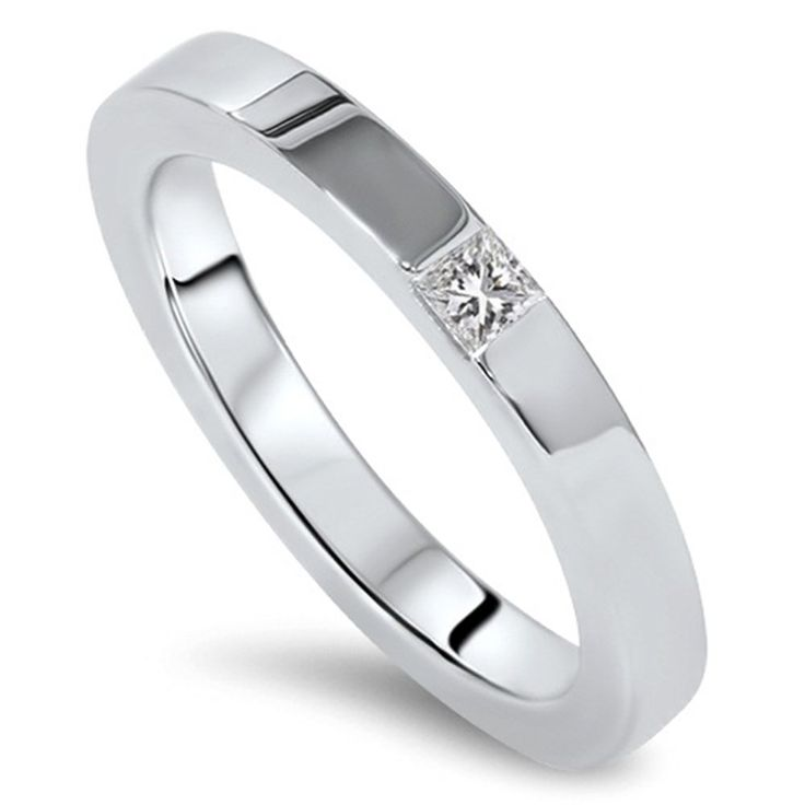 Amazon.com: Princess Cut Diamond Ring 14K White Gold: Jewelry