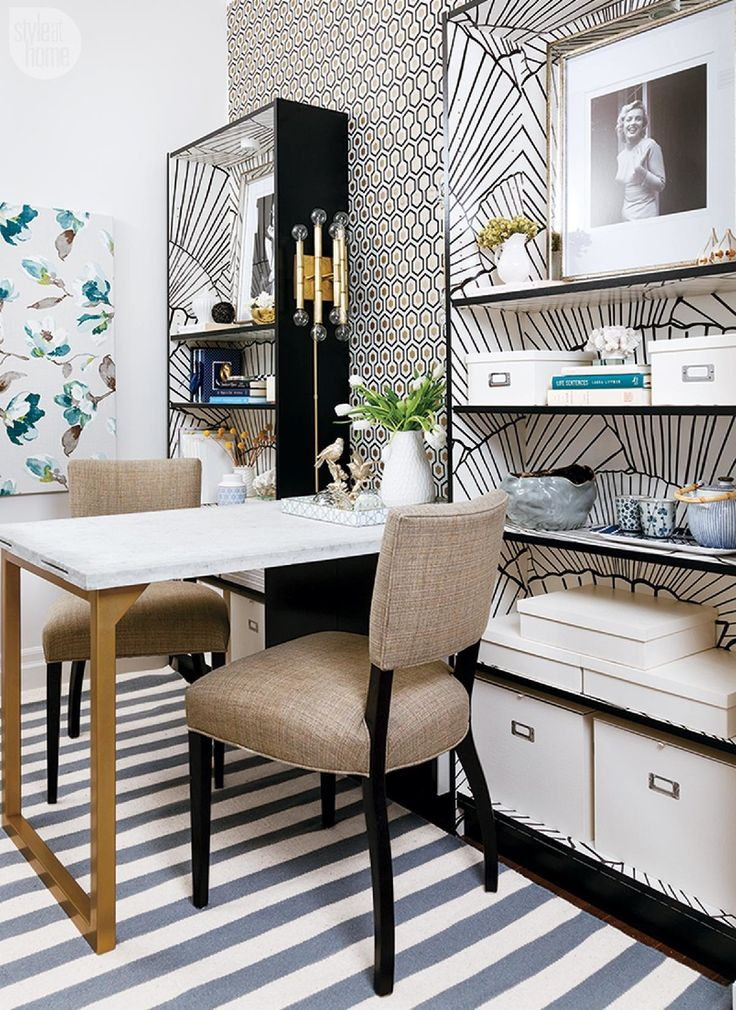 A plain beige apartment gets a creative makeover that dodges the rental rules, pops with pattern and flaunts the perfect amount of pretty.