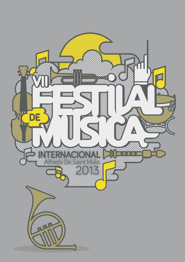 Poster [Festival de musica] by ruben quiroz, via Behance
