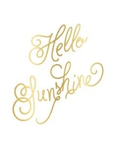 "Image of Palm Beach Lately ""Hello Sunshine"" Gold Foil Print"