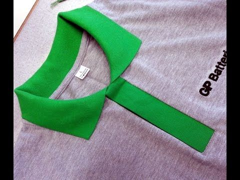 (18) DIY Sewing course how to sew a polo shirt lacosta. Kurs szycia plisa polo koszulka z dzianiny - YouTube