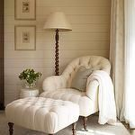 Great reading corner!! I love this chair for our bedroom.