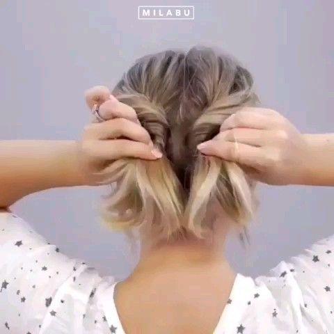 Mach es dir selbst Frisur Tutorial Video für dich