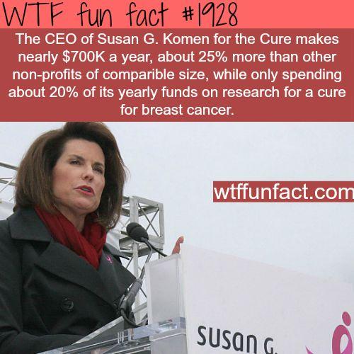 The CEO of Susan G. Komen salary - WTF fun facts
