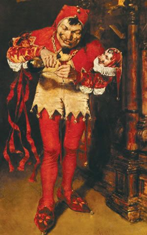 The court jester, obra do pintor norteamericano William Merritt Chase (1849-1916), que mostra as travessuras de um bobo da corte