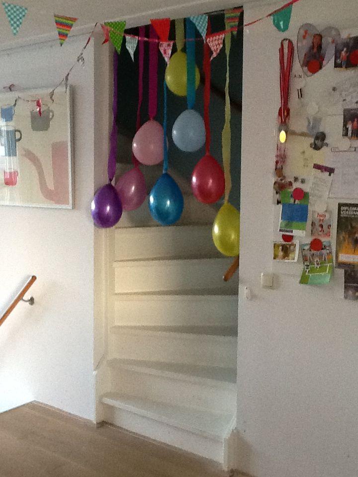 Ballonnen entree verjaardag