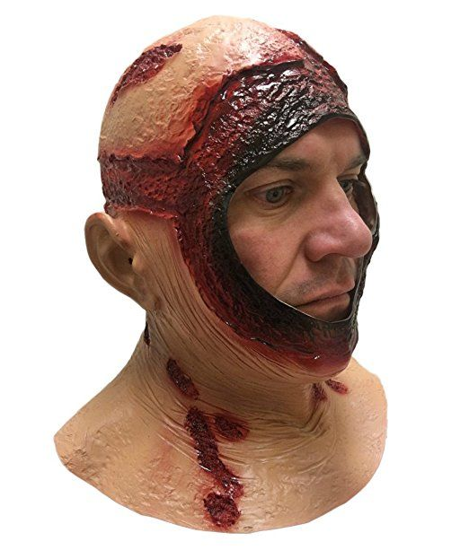 BLUTIG KAPUZE MASKE Mit kapuze Latex Jason Halloween Horror Film Kostüm Masken