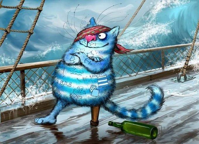 Синие коты Ирины Зенюк