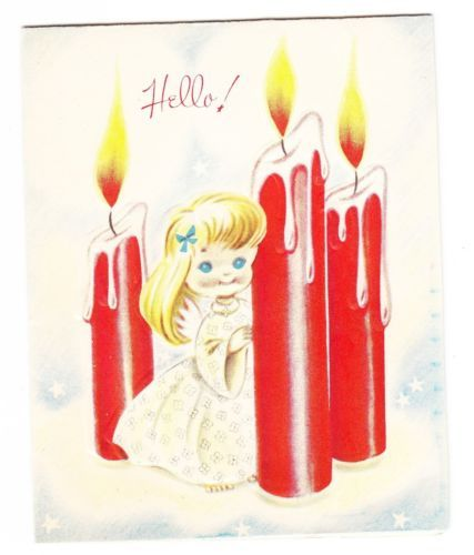 241 best Cards~Vintage Christmas Candles images on Pinterest ...