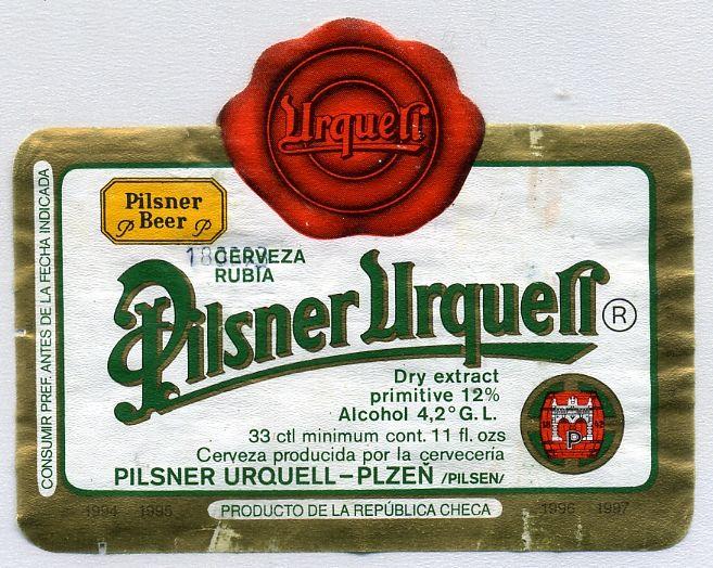 PILSNER URQUELL - REP. CHECA