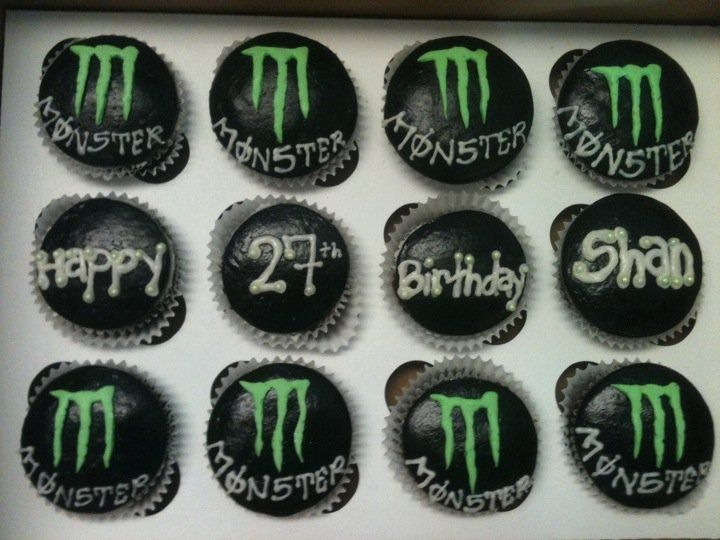 Monster Energy Drink Cupcakes — Cupcakes!