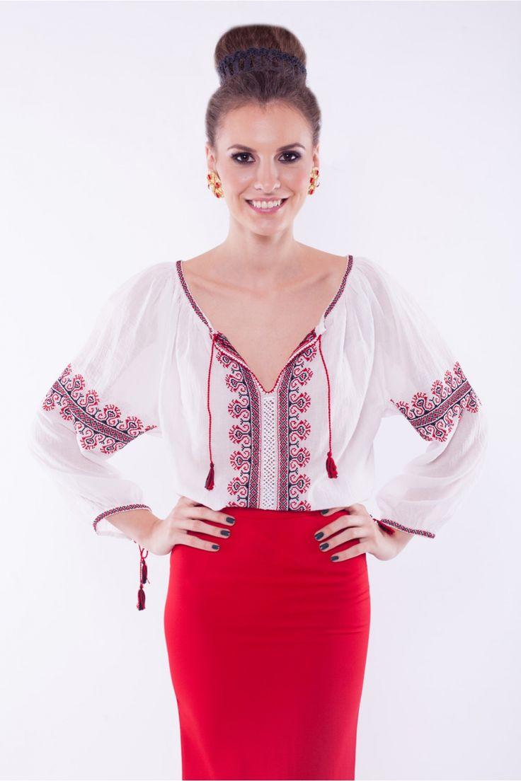 Ie traditionala romaneasca cu maneca lunga RL0088