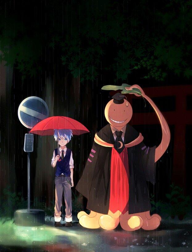 Assassination Classroom x My Neighbor Totoro Mashup | Ansatsu Kyoushitsu | Koro-Sensei & Nagisa Shiota | Anime | Fanart | Sailormeowmeow