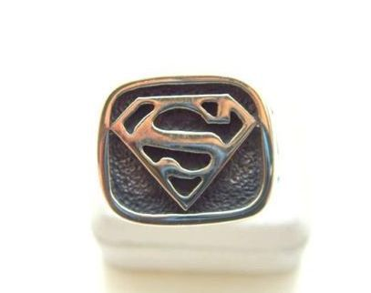 Superman Ring Sterling Silver 925