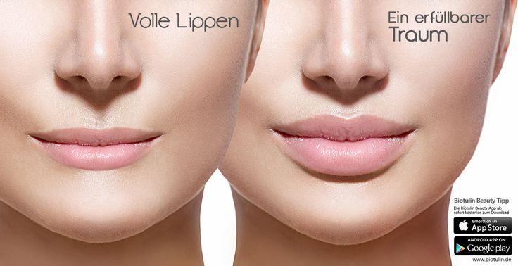 Volle Lippen – ein erfüllbarer Traum  Die Natur hat längst nicht jede Frau mit dem perfekten Kussmund ausgestattet, so dass volle Lippen oftmals nur ein Traum sind. Viele Frauen wollen unter der Woche keinen Lippenstift tragen oder haben nur wenig Zeit und Lust, aufwendig mit Konturenstift, Lippenpinsel und Lippenfarbe das Lippenvolumen optisch zu vergrößern. Im Biotulin Schönheitstipp verraten wir Ihnen dern Trick für volle Lippen. Diese Lippen wollen alle küsse