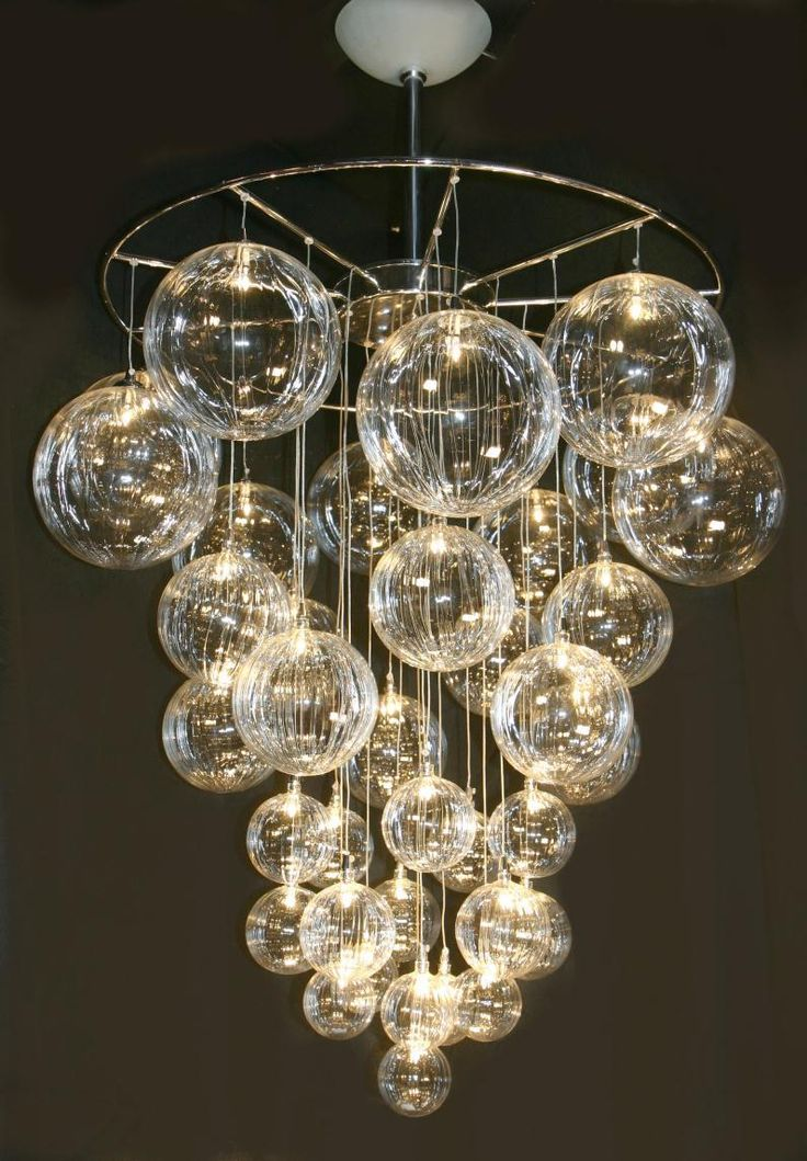 Delightful Modern Chandelier Lighting with Glass Ball