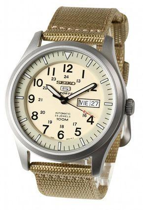 Amazon.co.jp: [セイコー]SEIKO 腕時計 5 MILITARY AUTOMATIC ミリタリー オートマチック SNZG07K1 メンズ [逆輸入]: 腕時計通販