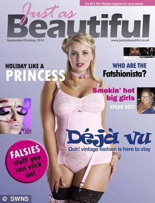 """magazine uses """"plus"""" size girls and no airbrushing! yay!"""