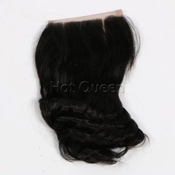7A  Virgin Brazilian Closure Loose Wave Brazilian Lace Closure Bleached Knots Closures Free/2/3Part Virgin Human Hair Closure