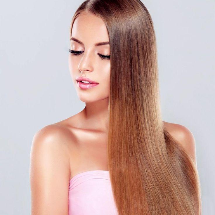 Glanzende haare mit naturprodukten