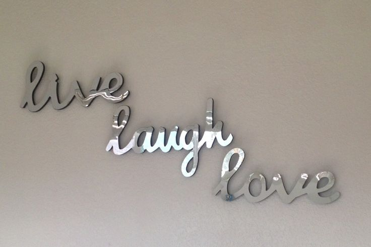 Cute mirror wall decor live laugh love room decor ideas for Live laugh love wall art