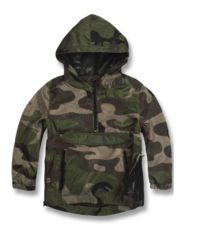 A distressed hooded pullover that is as trendy as it is comfortable.