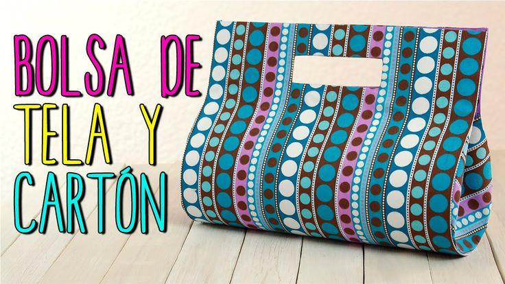 Bolsa de Tela - Paso a Paso Sin coser - Bolsa de Cartón y Tela - Cartonaje