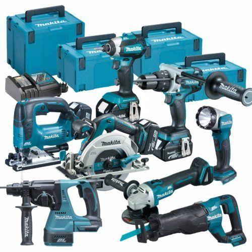 Power Tool Store MAKITA TOPKIT8BJ 18v Li-ion 5.0Ah Brushless Cordless 8 Piece Kit