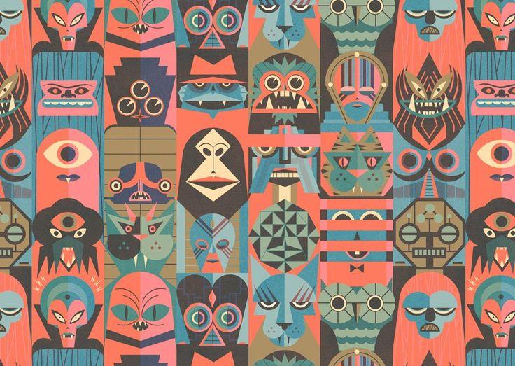 Fascinating walk through of Ben Newman's process.  Blogoliolio: Nobrow 5 - Repeat Pattern and Process